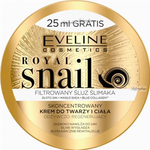 EVELINE - ROYAL SNAIL -  Skoncentrowany krem do twarzy i ciała ze śluzem ślimaka - 200 ml
