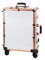 Przenośny stolik do makijażu / Stanowisko wizażysty LC015 - WHITE FLORAL