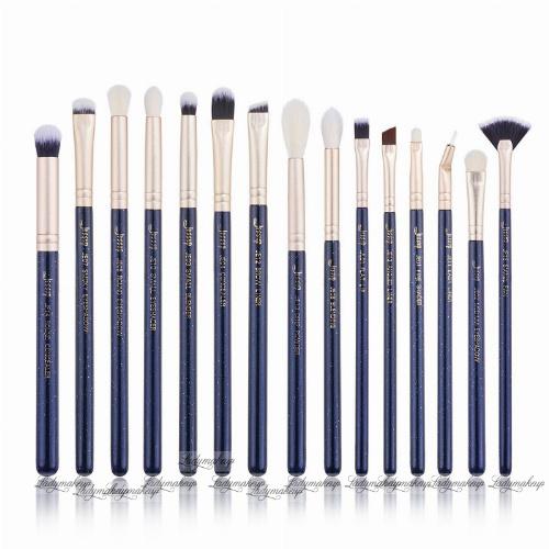 JESSUP - Classics Galaxy Series Brushes Set - Zestaw 15 pędzli do makijażu - T477 Prussian Blue/Golden Sands