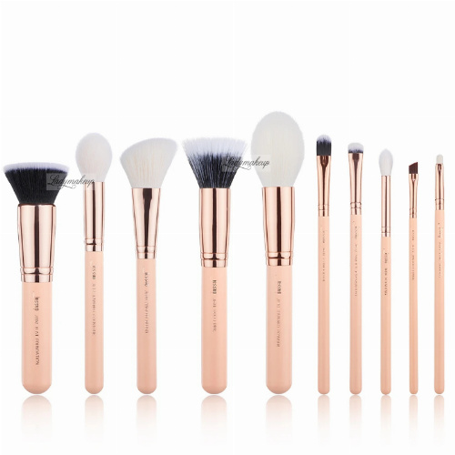 JESSUP - Classics Chrysalid Series Brushes Set - Zestaw 10 pędzli do makijażu - T449 Peach Puff/Rose Gold