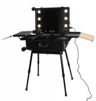 Portable make-up table / Makeup artist stand LC015 - BLACK