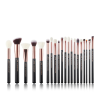 JESSUP - Individual Brushes Set - Set of 20 make-up brushes - T165 Black / Rose Gold