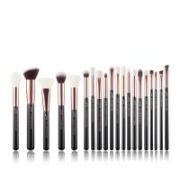 JESSUP - Individual Brushes Set - Set of 20 make-up brushes - T165 Black / Rose Gold