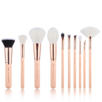 JESSUP - Classics Series Brushes Set - Zestaw 10 pędzli do makijażu - T450 Peach Puff/Rose Gold