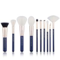 JESSUP - Classics Galaxy Series Brushes Set - Zestaw 10 pędzli do makijażu - T480 Prussian Blue/Golden Sands