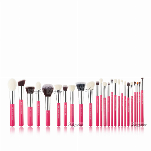 JESSUP - Individual Brushes Set - Zestaw 25 pędzli do makijażu - T195 Rose Carmin/Silver