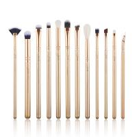 JESSUP - Classics Alchemy Brushes Set - Zestaw 12 pędzli do makijażu - T408 Golden/Rose Gold