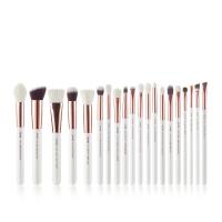 JESSUP - Individual Brushes Set - Set of 20 make-up brushes - T225 White / Rose Gold