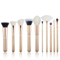 JESSUP - Classics Series Brushes Set - Zestaw 10 pędzli do makijażu - T411 Golden/Rose Gold
