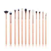 JESSUP - Classics Chrysalid Brushes Set - Zestaw 12 pędzli do makijażu - T448 Peach Puff/Rose Gold