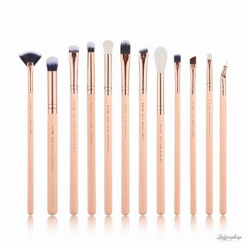 JESSUP - Classics Chrysalid Brushes Set - Zestaw 12 pędzli do makijażu - T448 Peach Puff/Rose Gold