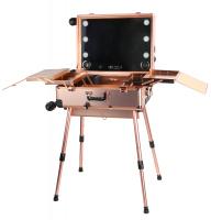 Przenośny stolik do makijażu / Stanowisko wizażysty LC015 - ROSE GOLD
