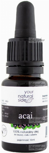 Your Natural Side - 100% naturalny olej acai - 10 ml