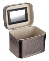 Inter-Vion - Metaliczny kuferek na kosmetyki - 415 204 - XL