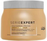 L'Oréal Professionnel - SERIE EXPERT - GOLD QUINOA + PROTEIN ABSOLUT REPAIR - Odbudowująca maska do mocno zniszczonych włosów - 500 ml