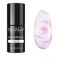 NeoNail - Aquarelle Color - Hybrid Varnish - 6 ml - 5504-1 - Pink Aquarelle - 5504-7 - Pink Aquarelle