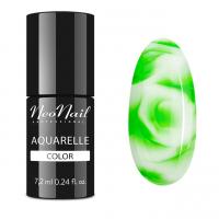 NeoNail - Aquarelle Color - Hybrid Varnish - 6 ml - 5751-1 - Green Aquarelle  - 5751-7 - Green Aquarelle