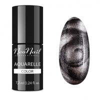 NeoNail - Aquarelle Color - Lakier Hybrydowy - 6 ml i 7,2 ml - 5772-7 - SILVER AQUARELLE - 5772-7 - SILVER AQUARELLE