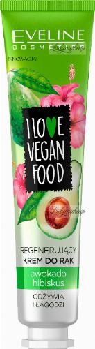 EVELINE - I LOVE VEGAN FOOD - Regenerujący krem do rąk - Awokado & Hibiskus - 50 ml