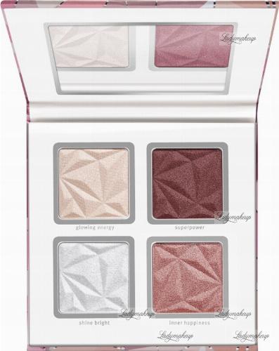 Essence - CRYSTAL POWER - Blush & Highlight Palette - Paleta rozświetlaczy i róży