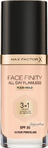 Max Factor - FACE FINITY ALL DAY FLAWLESS - Produkt 3 w 1. Baza, korektor i podkład