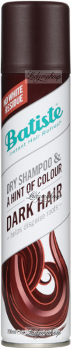 Batiste - DRY SHAMPOO & A HINT OF COLOUR FOR DARK HAIR - Suchy szampon do włosów dla brunetek - 200 ml