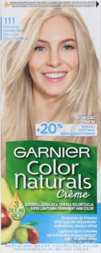 GARNIER - COLOR NATURALS Creme - Trwała koloryzacja superrozjaśniająca - 111 Superjasny Popielaty Blond