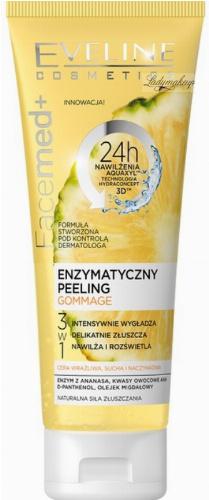 EVELINE - FaceMed+ GOMMAGE PEELING - Enzymatyczny peeling do twarzy 3w1 - Cera wrażliwa, sucha i naczynkowa - Ananas - 50 ml