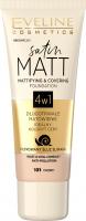 Eveline Cosmetics - SATIN MATT FOUNDATION - 4-in-1 matting and covering face foundation
