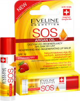 EVELINE - SAUCE ARGAN OIL - NOURISHING AND REGENERATING LIP BALM - Nourishing and regenerating lip balm stick - SPF10 - Strawberry