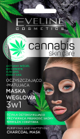 EVELINE - Cannabis Skincare Mask - Cleansing and matting 3in1 charcoal mask - 7 ml