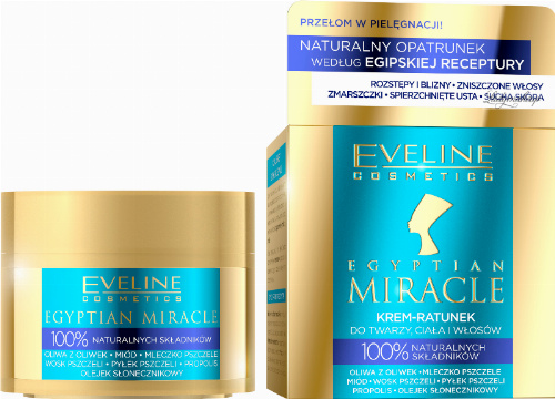 EVELINE - EGYPTIAN MIRACLE - Krem-Ratunek do twarzy, ciała i włosów - 40 ml