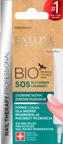Eveline Cosmetics - NAIL THERAPY PROFESSIONAL - BIO SOS - Kuracja dla suchych, zniszczonych skórek i kruchych paznokci - 12 ml