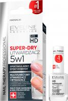 EVELINE - NAIL THERAPY PROFESSIONAL - SUPER DRY - Multifunkcyjny utwardzacz i wysuszacz lakieru 5w1 - 12 ml