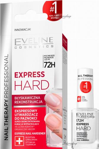 EVELINE - NAIL THERAPY PROFESSIONAL - EXPRESS HARD - Ekspresowy utwardzacz do paznokci - 12 ml