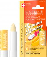 Eveline Cosmetics - LIP THERAPY PROFESSIONAL - BANANA MOUSSE LIP BALM - Wygładzająca pomadka ochronna do ust w sztyfcie - Bananowy Mus