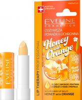 EVELINE - LIP THERAPY PROFESSIONAL - HONEY WITH ORANGE LIP BALM - Nourishing protective lipstick stick - Honey with Orange