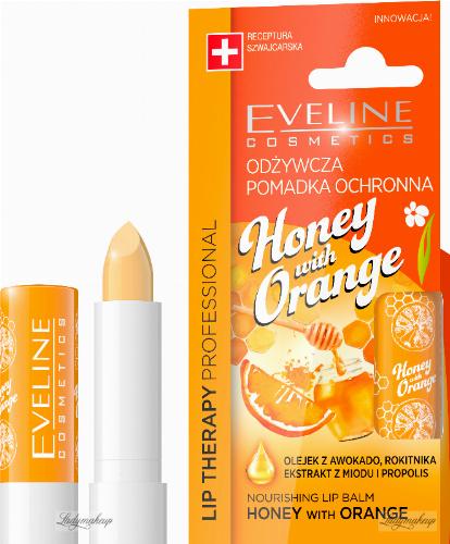 EVELINE - LIP THERAPY PROFESSIONAL - HONEY WITH ORANGE LIP BALM - Odżywcza pomadka ochronna do ust w sztyfcie - Miód z Pomarańczą