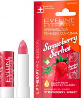 EVELINE - LIP THERAPY PROFESSIONAL - STRAWBERRY SORBET LIP BALM - Regenerating protective lipstick stick - Strawberry Sorbet