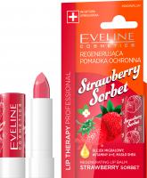 Eveline Cosmetics - LIP THERAPY PROFESSIONAL - STRAWBERRY SORBET LIP BALM - Regenerująca pomadka ochronna do ust w sztyfcie - Truskawkowy Sorbet