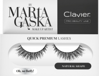Clavier - QUICK PREMIUM LASHES by Marta Gąska - False eyelashes with a 3D effect - SK57 Oh, So Fluffy!
