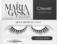 Clavier - QUICK PREMIUM LASHES by Marta Gąska - Sztuczne rzęsy na pasku - 801 To The Moon&Back