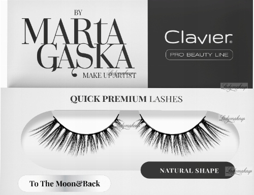 Clavier - QUICK PREMIUM LASHES by Marta Gąska - Artificial eyelashes on a bar - 801 To The Moon & Back