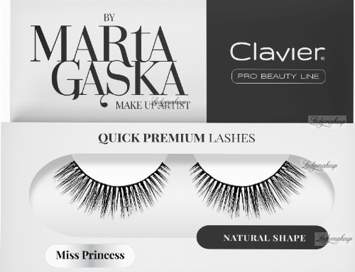 Clavier - QUICK PREMIUM LASHES by Marta Gąska - False eyelashes - 823 Miss Princes