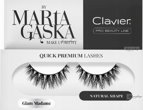 Clavier - QUICK PREMIUM LASHES by Marta Gąska - Sztuczne rzęsy na pasku - 829 Glam Madame