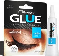 Clavier - WATERPROOF GLUE - EYELASH ADHESIVE - WHITE CLEAR - Klej do rzęs - Biały