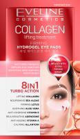EVELINE - TURBO ACTION 8in1 - COLLAGEN Lifting Treatment - Ujędrniające, hydrożelowe płatki pod oczy - 2 sztuki