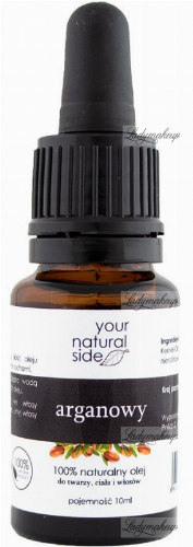 Your Natural Side - 100% naturalny olej arganowy - 10 ml