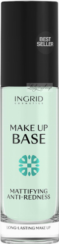 INGRID - MAKE UP BASE - MATTIFYING & ANTI-REDNESS - Matująca i redukująca zaczerwienienia baza pod makijaż