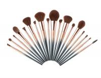 JESSUP - STARRY BLACK LUXURY SET - Zestaw 18 pędzli do makijażu + Kosmetyczka - T264 + CB006